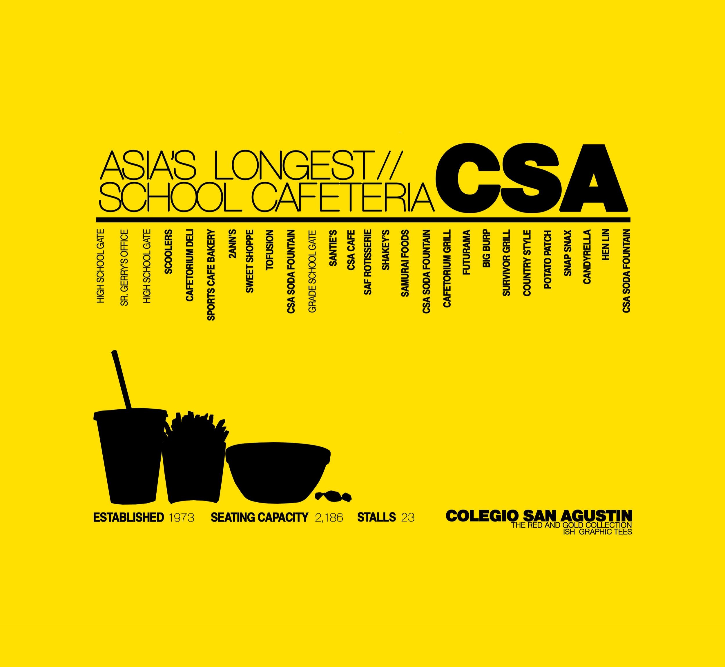 yellow black graphic design company artist studio typography infographic school csa san agustin makati shirt print design metro manila philippines