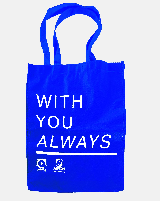 Blue typography graphic design layout eco bag event merchandise metro manila philippines