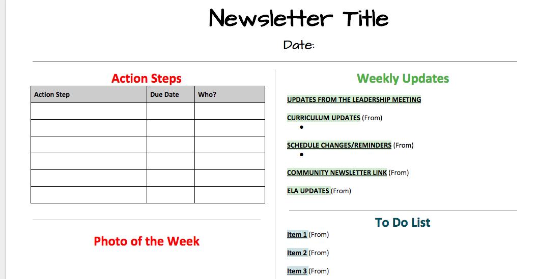 Newsletter Template