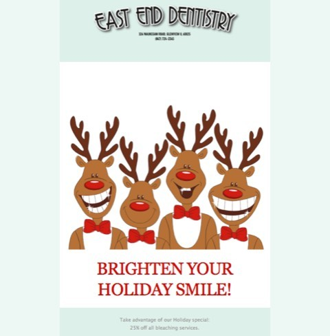 BRIGHTEN YOUR HOLIDAYS WITH WHITER TEETH!