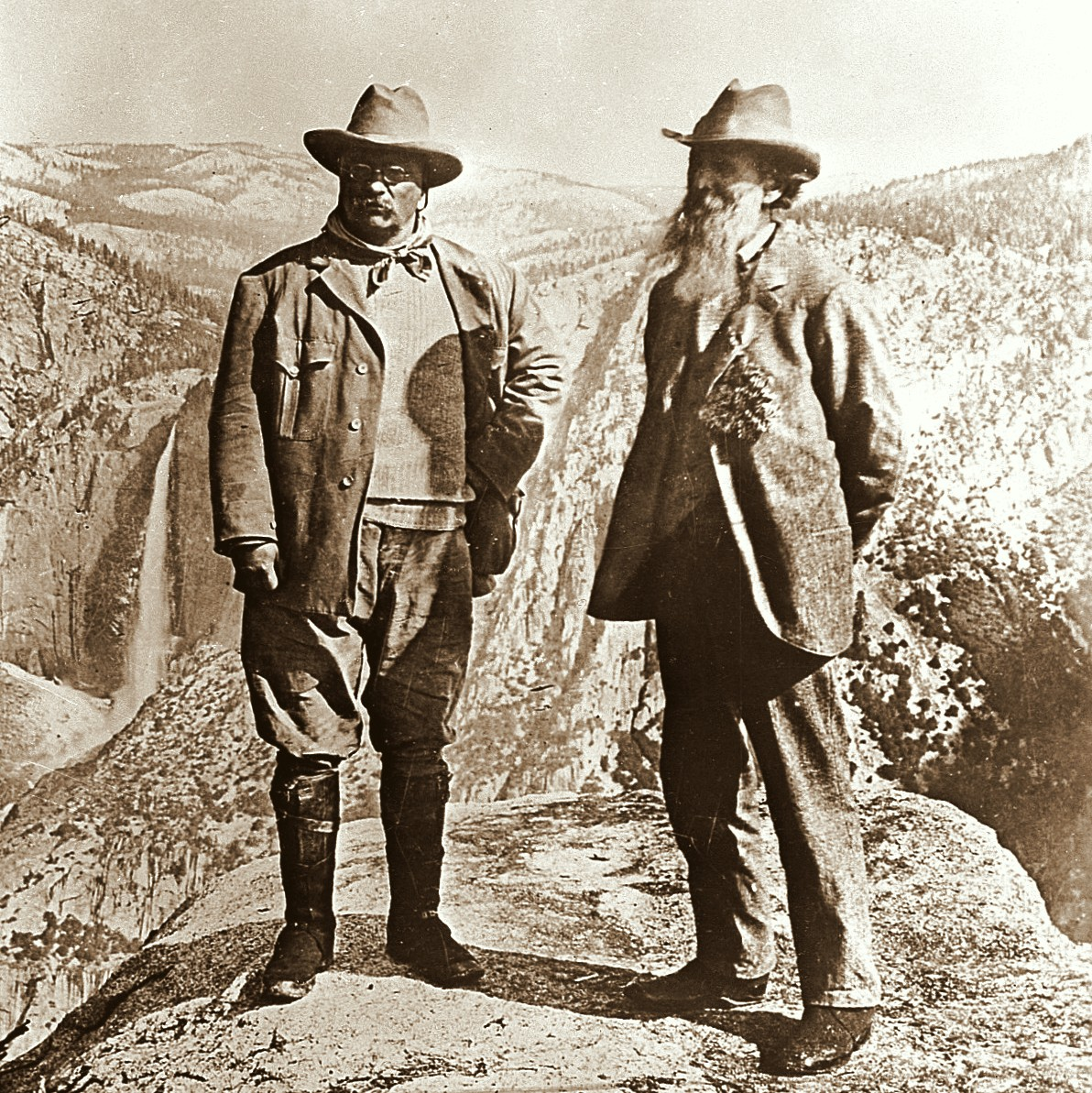 U.S. president Teddy Roosevelt and environmentalist John Muir, 1906