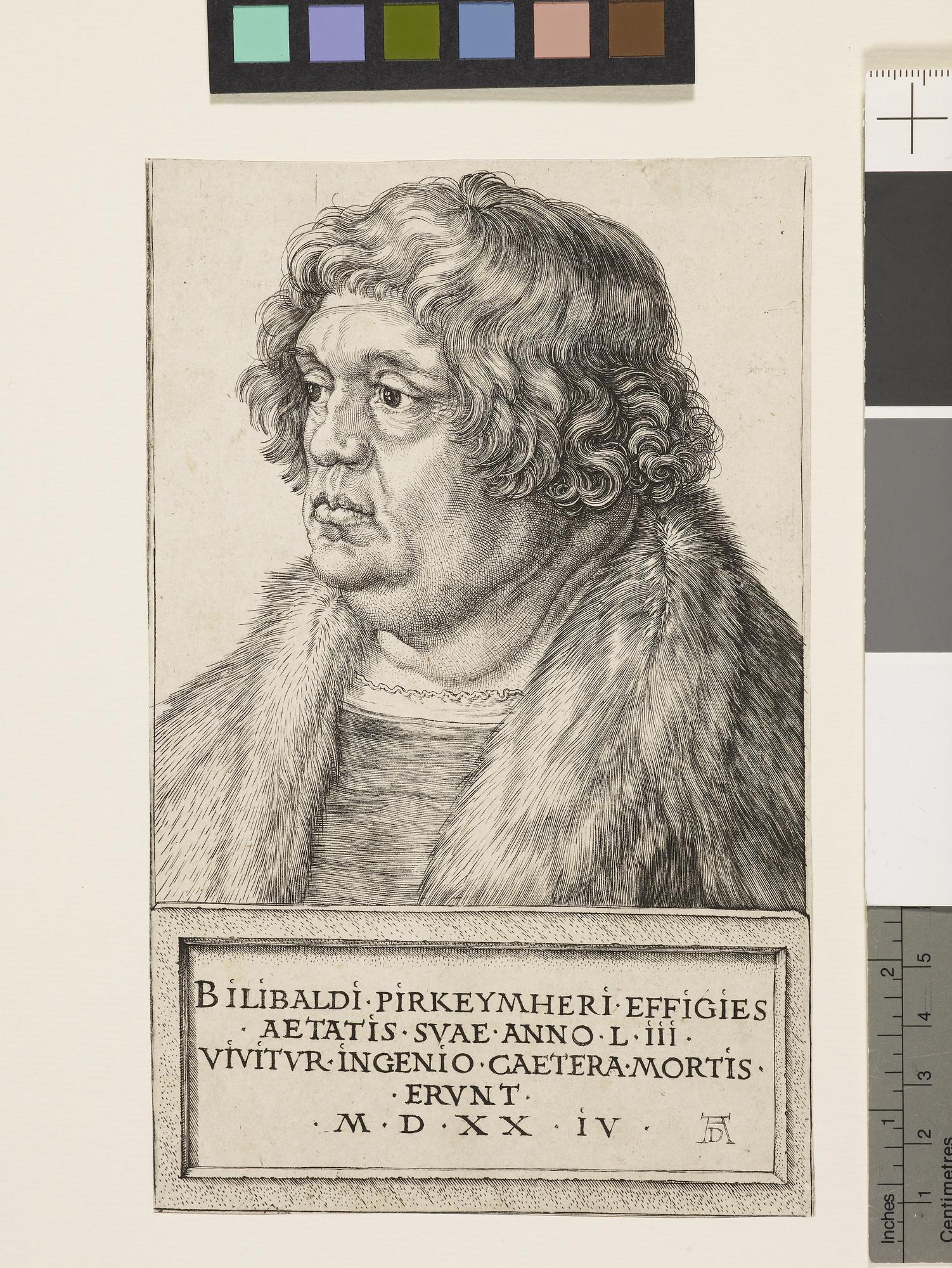 Albrecht Dürer.  Willibald Pirckheimer . Engraving. 1524.
