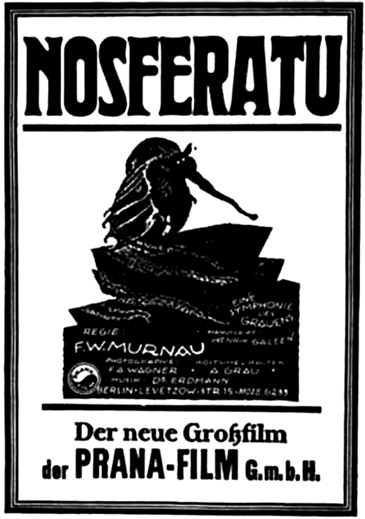 Nosferatu was the only film produced by the Prana-Film company. After the movie's release, they declared bankruptcy to avoid copyright infringement for copying Bram Stoker's  Dracula .