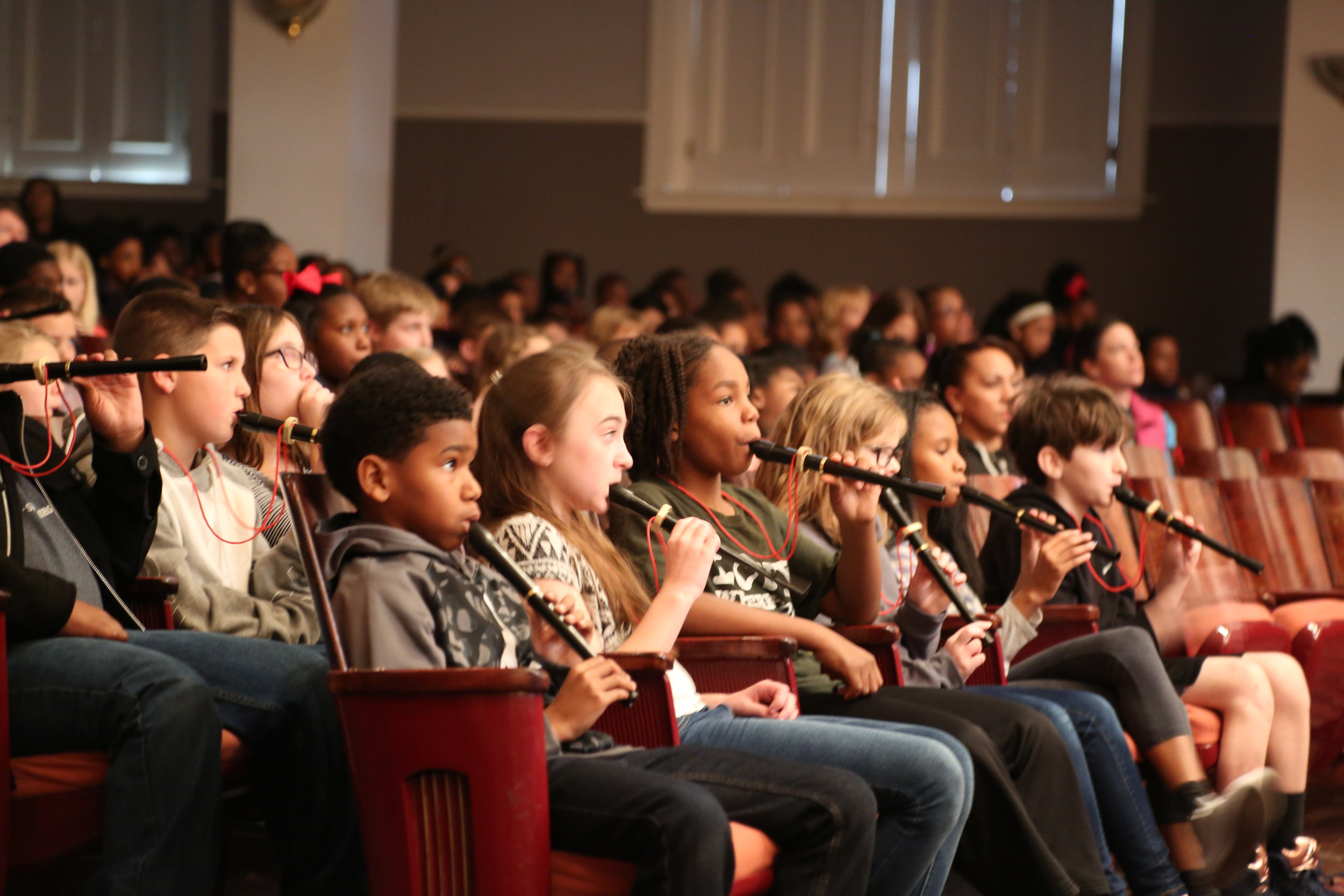 4th Graders from Spartanburg County at Spartanburg Philharmonic's LINK UP concert