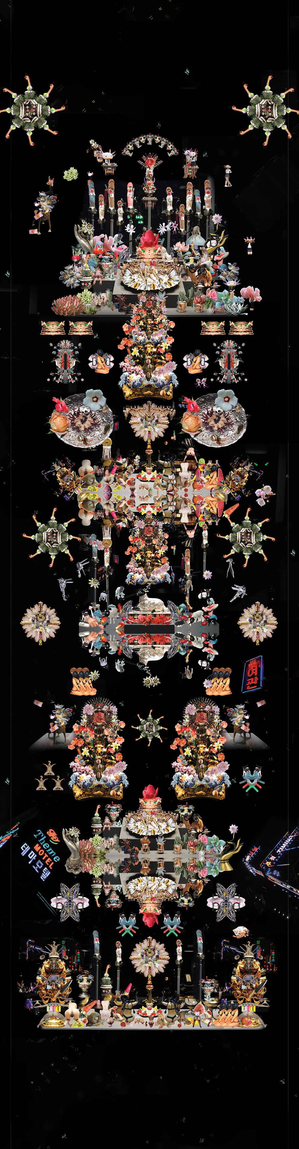 Agnus dei qui tollis peccata mundi_2016_digital collage printed on matt paper