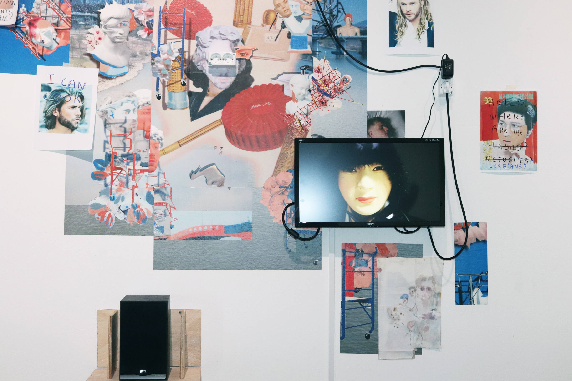 Untitled installation, Happyland William Ludwig Lutgens와의 협동작업, 2019 Video by William Ludwig Lutgens /Print by Che Go Eun