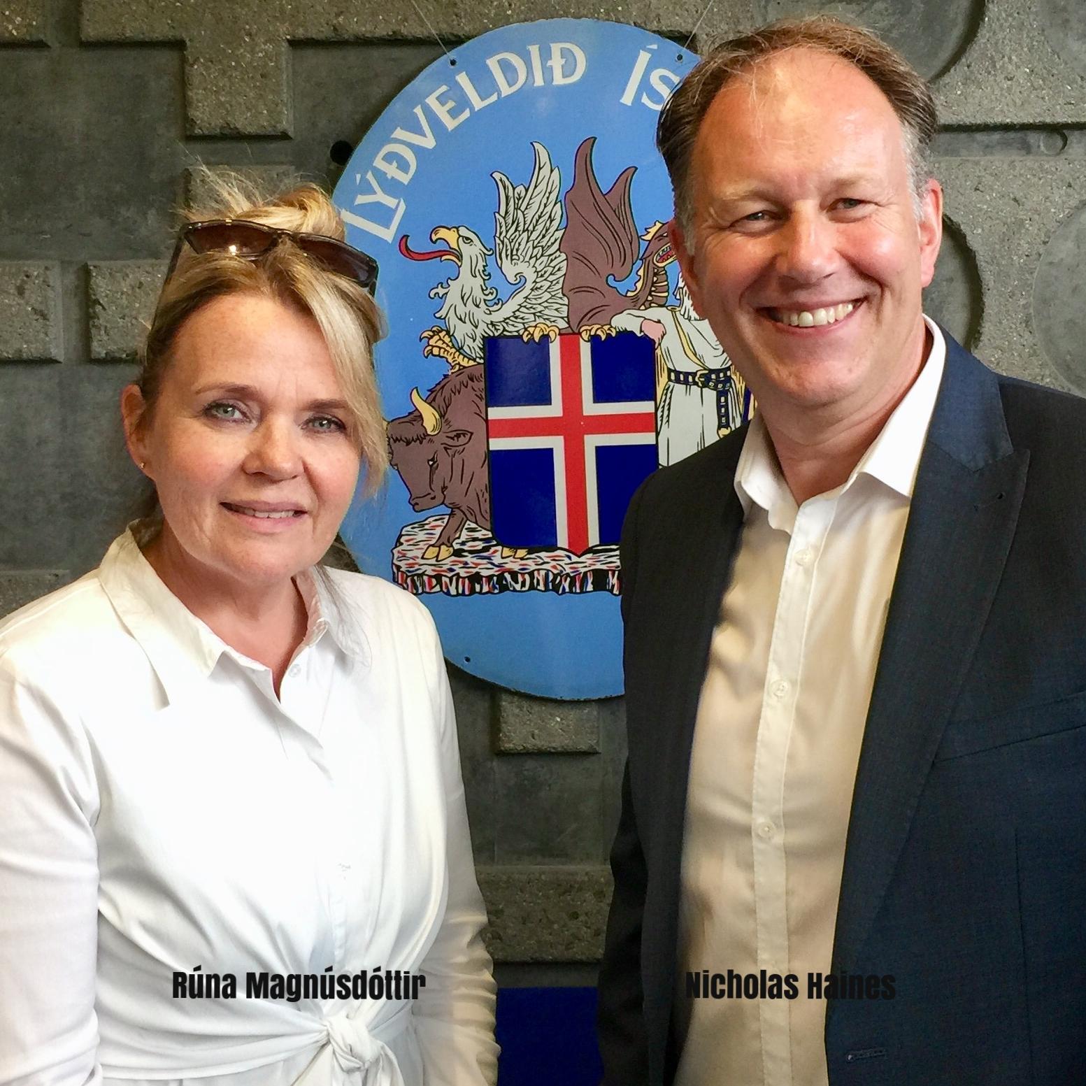 Rúna Magnús & Nicholas Haines Icelandic Embassy