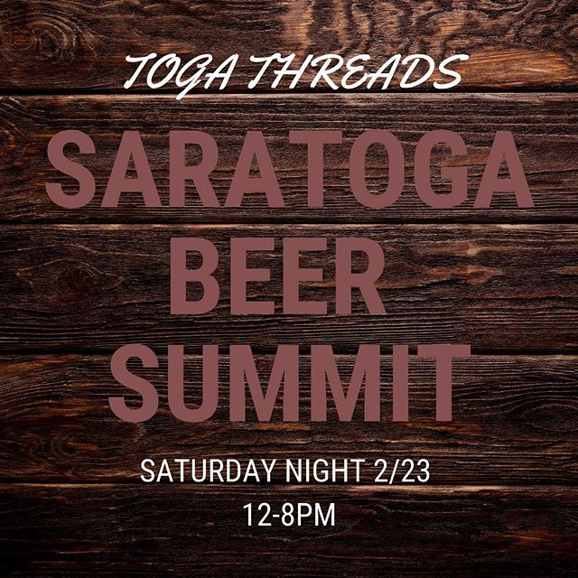 It's almost here! 🙌🏻 Find us this Saturday at the @saratogacitycenter kicking off the 2019 Saratoga Beer Summit! See you there! • • • #americaontapbeerfestival #whattowearattheplacetobe #hops #brews #goodtimes