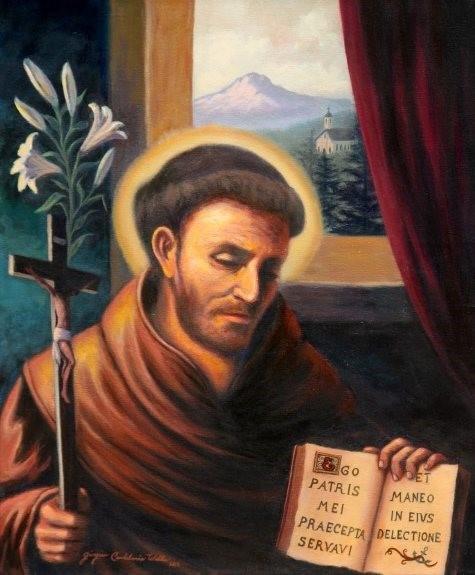 """St. Nicholas of Tolentino"" by artist and parishioner Giorgina Wells"