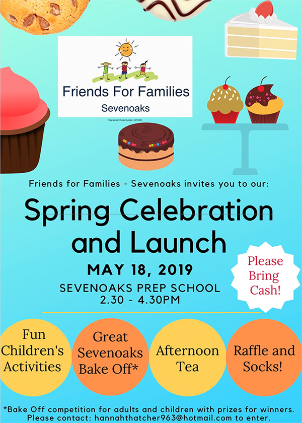 18 May 2019   Join us on the 18th May at Sevenoaks Prep school for our Spring Celebration and launch!