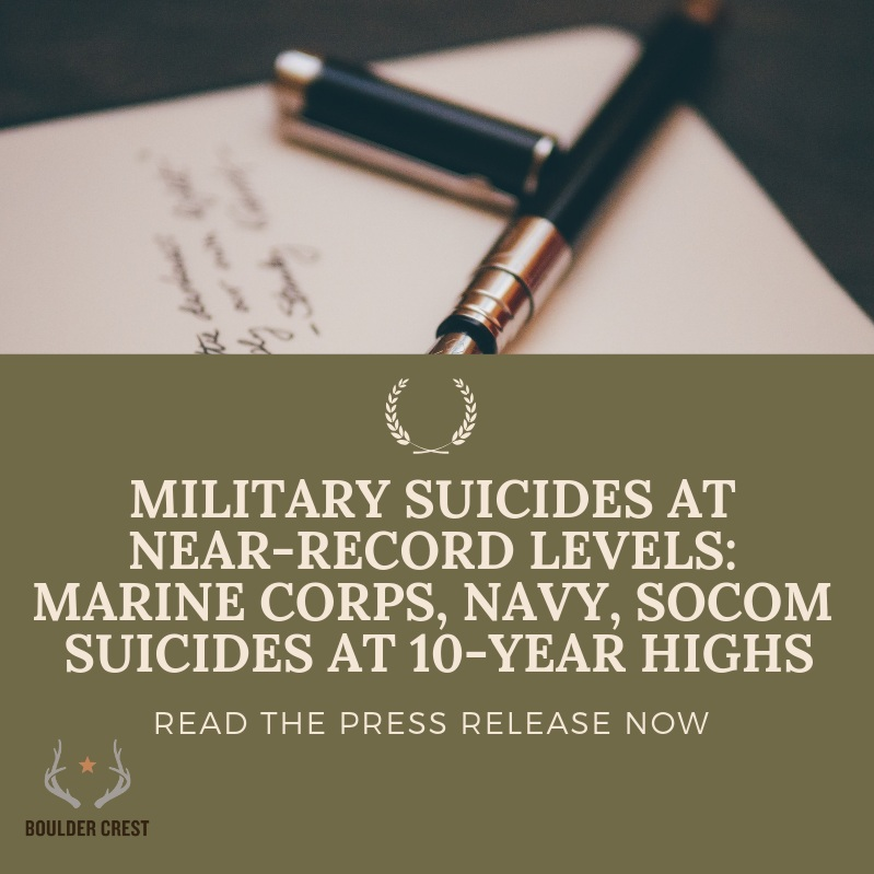 Read Josh and Ken's response to reports by the Marine Corps, Navy, and Special Operations Command (SOCOM) addressing the growing crisis in military mental health and suicides at a 10-year high level.   Read more here…