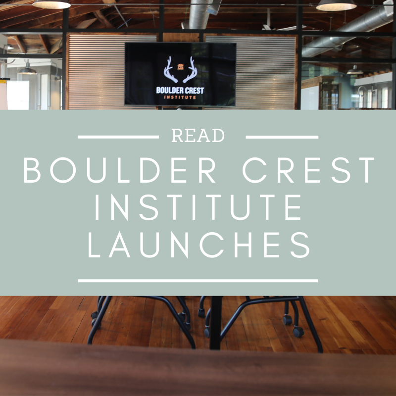 Boulder Crest, a pioneering nonprofit focused on facilitating Posttraumatic Growth for combat veterans, launched the Boulder Crest Institute for Posttraumatic Growth on Sept. 12, 2018.   Read more here…