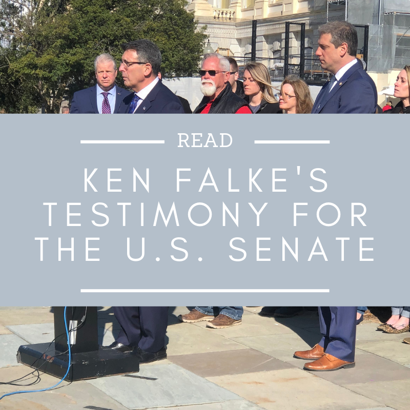 If you are struggling to make sense of our Nation's suicide and mental health epidemic, then read Ken Falke's testimony before today's Senate Veterans Affairs Committee hearing now.   Read more here…