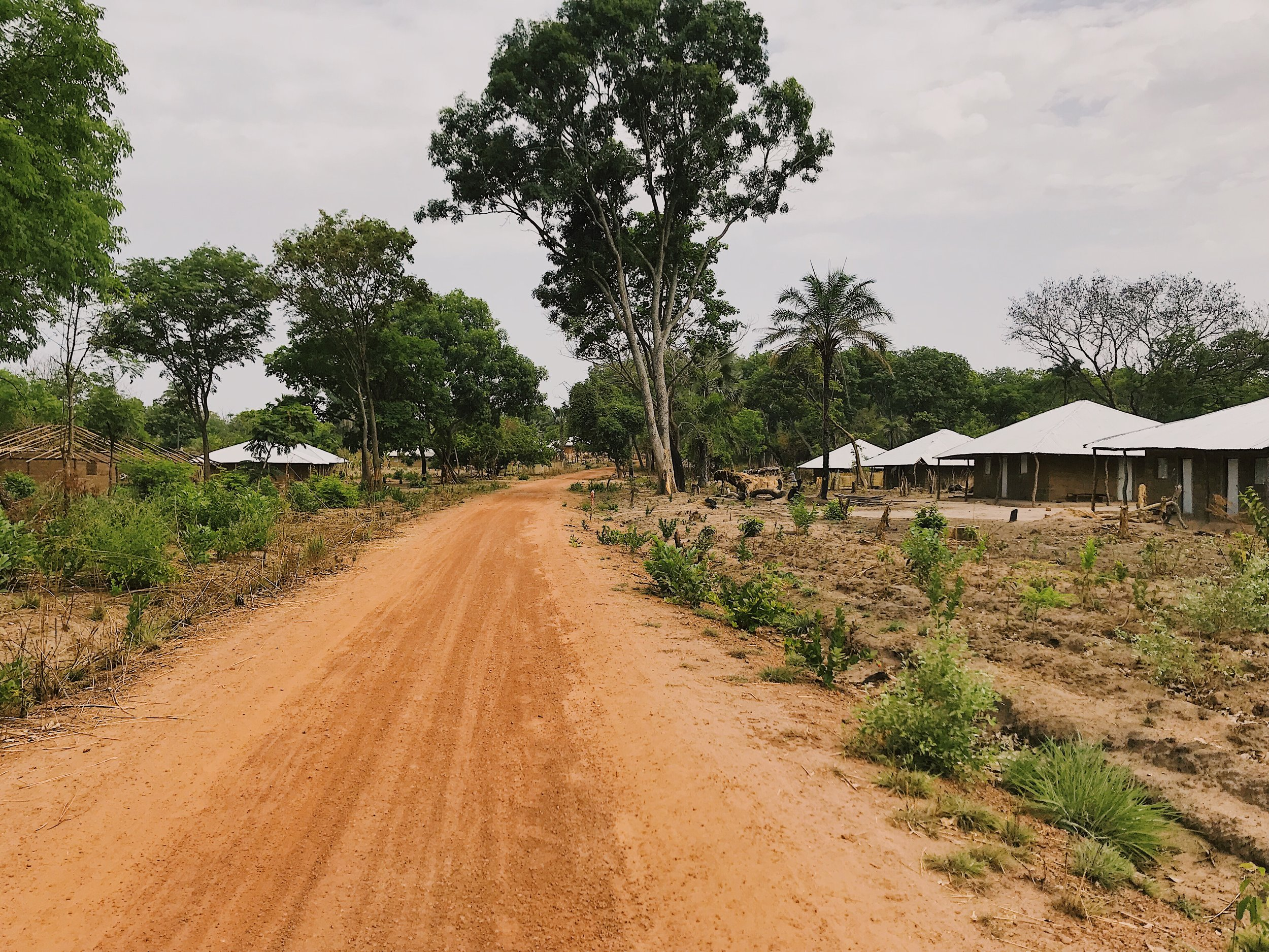 Rebuilt homes and roads in Casamance Region