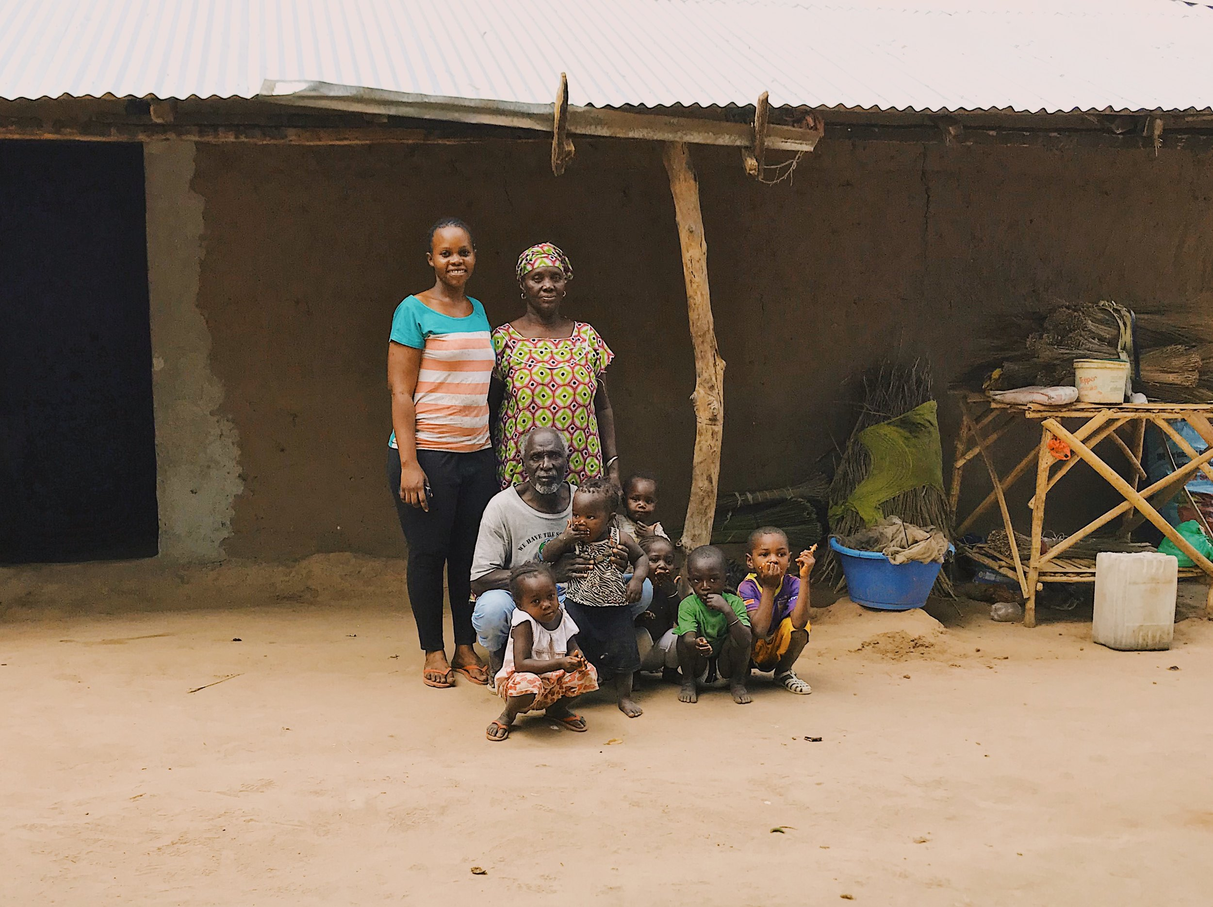 Boubkar Sane and his family with their new home