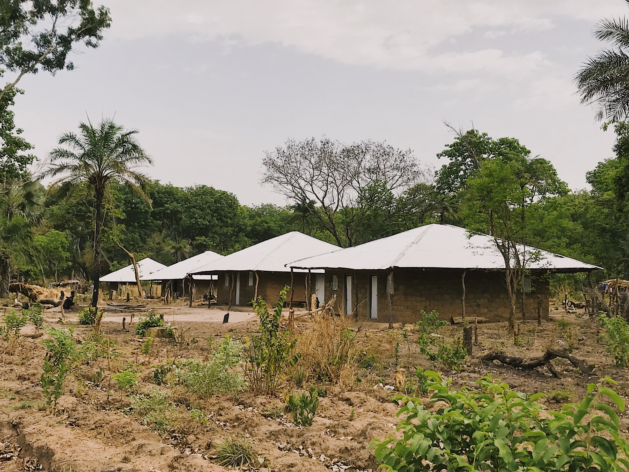 Completed community houses