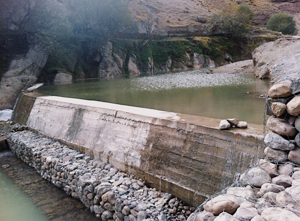 Constructed weir of Baghe Shah Canal