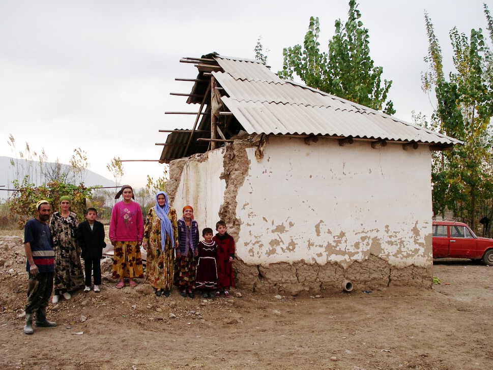 A family home destroyed by volatile weather
