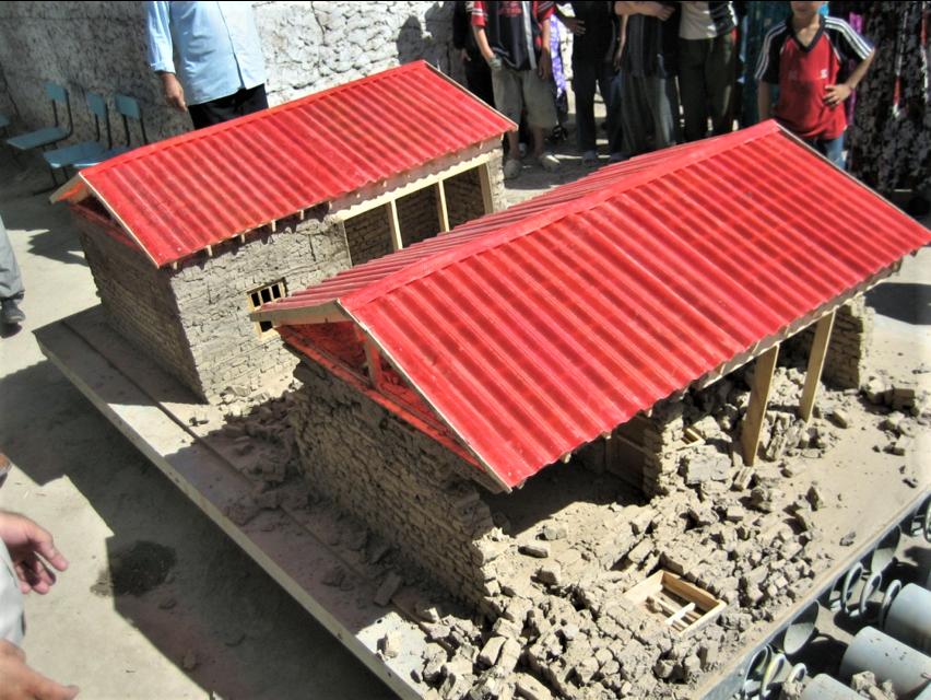 Earthquake shake table demonstration