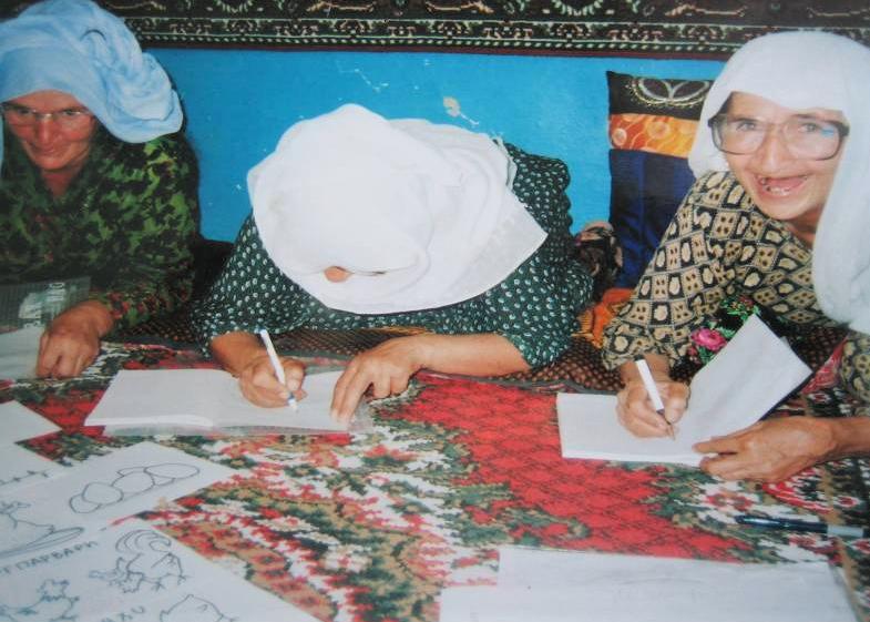 Women attending business training session