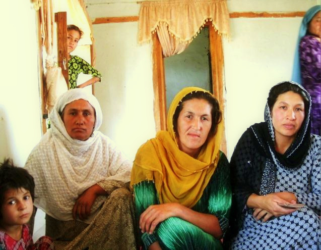 Women awaiting their micro-loan payment
