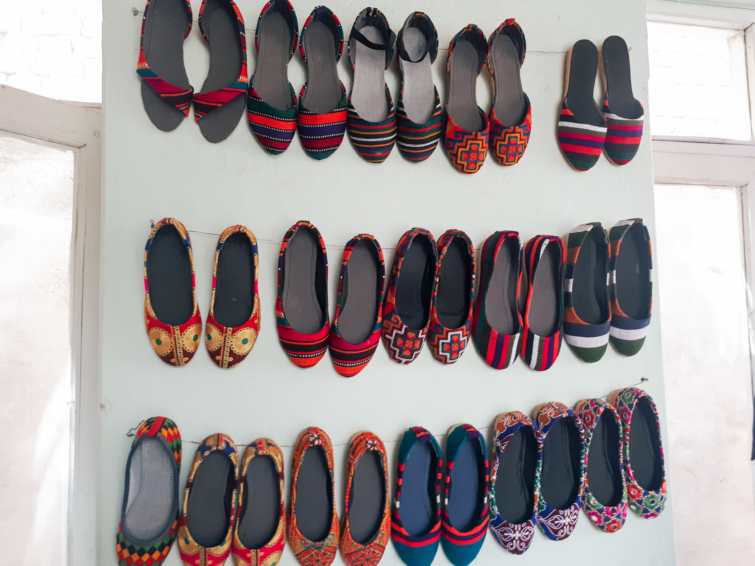 The results of our shoe making vocational training class