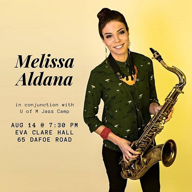 August 14th at Eva Clare Hall as part of my residency at The University of Manitoba Jazz Camp