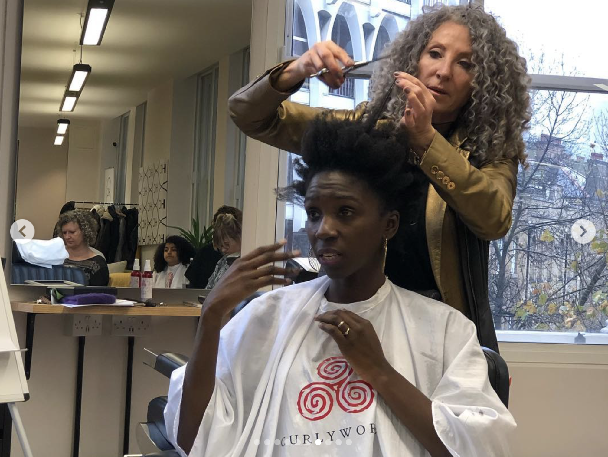 Lorraine Massey teaching her signature technique, Curl by Curl which was her ingenious invention!