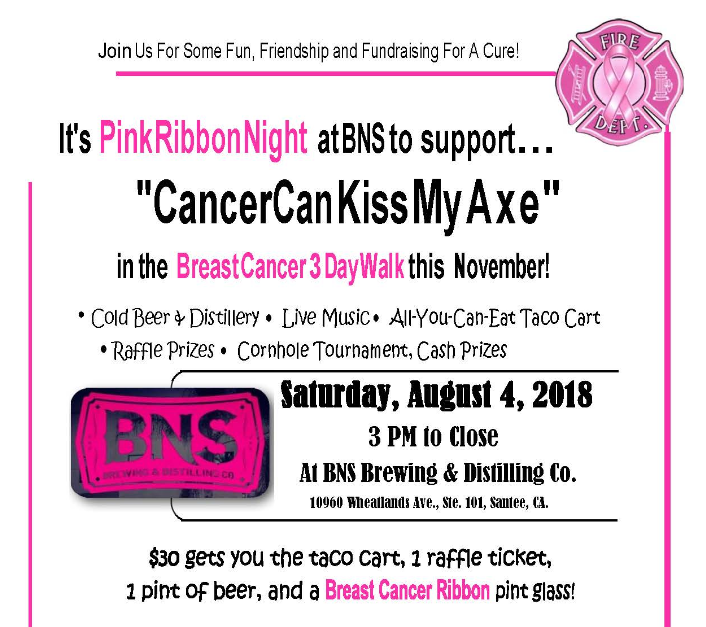 Cancer Can Kiss My Axe Fundraiser