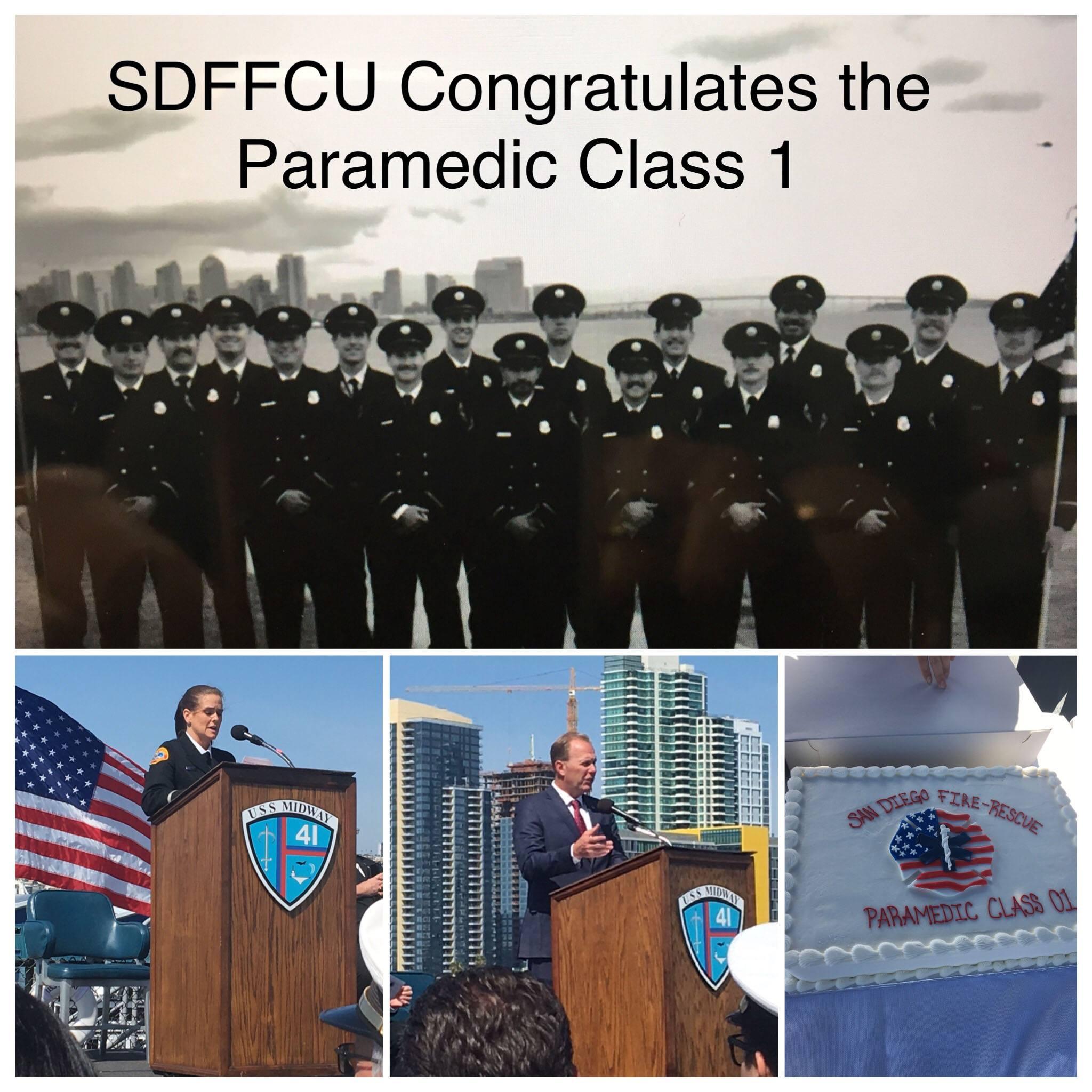 Paramedic Class 1 Graduation