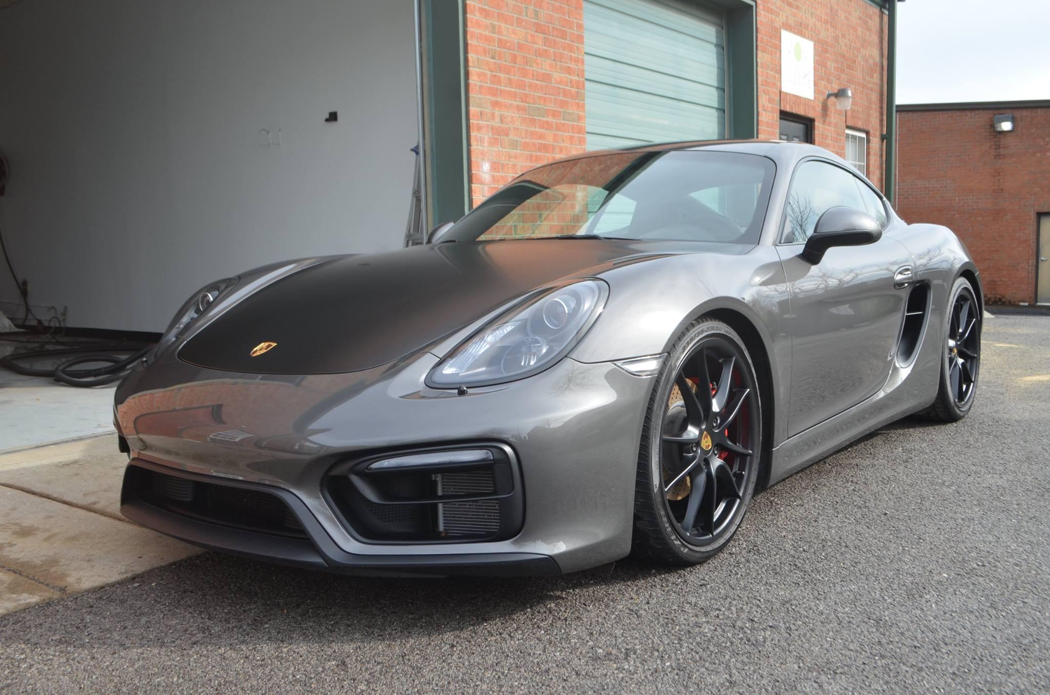 Porsche Cayman GTS: Track Pack PPF, Hood Color Change, CQ Professional