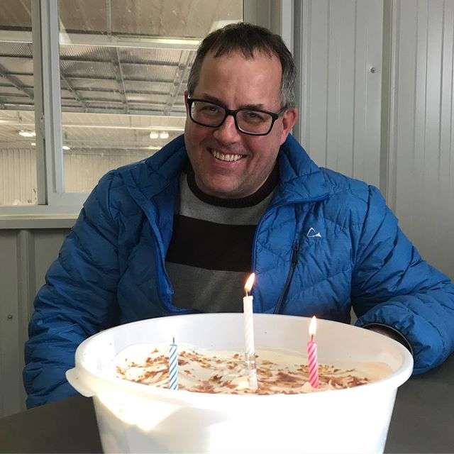 Enjoying some delicious birthday cake with our coffee this afternoon (thank you Sharon Fowler) 😋 Be sure to wish John a happy birthday today if you see him!!