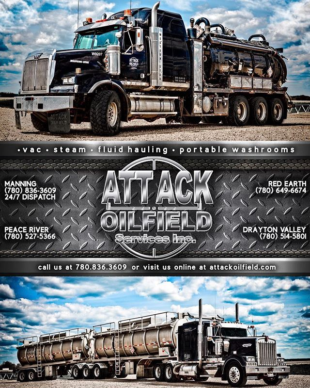 Thank you to Melissa @rexsacreative for making this ad up for the Jet Boat races in Peace River this weekend. Who's going to watch? Starts tonight until Sunday! #attackoilfield #peaceriver #northernalberta #jetboatracing