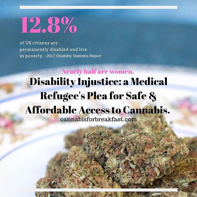 """The fight for safe & affordable access to medicine is a daily struggle for many formerly able-bodied Americans. ⠀ ⠀ And with nearly 13% of Americans """"disabled�, they're all but stuck in the medical industrial complex without economic security. ⠀ ⠀ On the blog— A medical refugees plea to be included in the conversation. #linkinbio⠀ ⠀ Thank you for always rising, Sarah. ⠀ ⠀ @rising_zebra ⠀ ⠀ #cannabisforbreakfast #risingzebra #disabilityinjustice #affordableaccess #mmj #safeaccess #medicalrefugee #cannabisismedicine #letsactlikeit #itsaprivilege #plantsoverpills #cannabiscommunity #420life #mmjladies #voucherprogram #mmjlife #ehlersdanlossyndrome #EDScommunity #plantmedicine #chronichealthwarrior #beanally"""