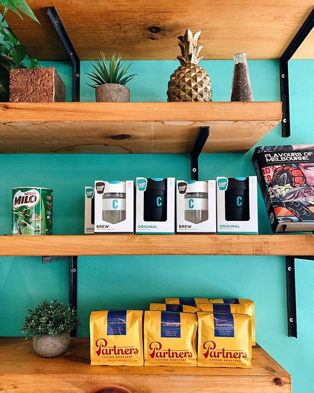 A shelf moment. As always, shoutout to @partnerscoffee for keeping us all well caffeinated! 💛