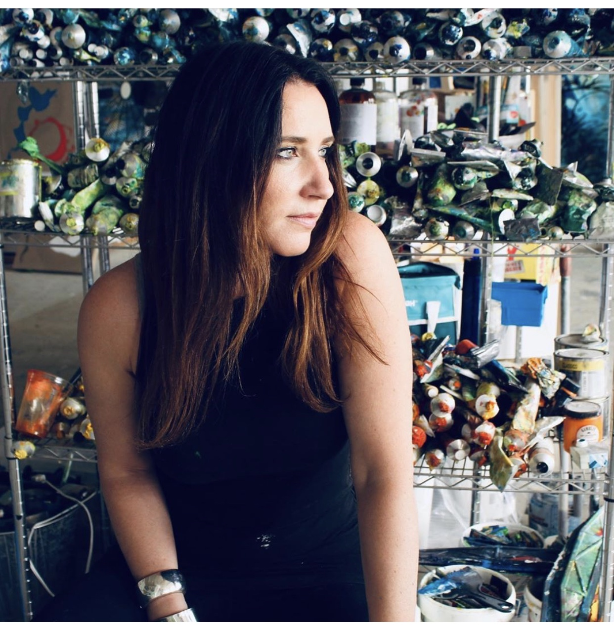 Originally from Newport Rhode Island, visual artist Mia Tarducci moved to Pittsburgh in her early 20s where she continues to live and work. She is known for working on a massive scale (In 2018 the industrial building that houses her studio allowed her to cut a hole in the exterior wall to move a painting to its destination) utilizing a color-driven abstract expressionist style, minimalist abstractions, and concept-driven works. She has exhibited throughout the US and most recently was highlighted in an open air exhibition along the Thames in London. She is in private and corporate collections throughout the world with notable clients including an NFL owner, PNC bank, Children's MuseumLab and Superior Motors (named by Time Magazine as one of the top 100 most interesting places in the world) to name a few. Currently she is working toward a solo exhibition in Palm Beach and Pittsburgh and has a massive project in the works for a major retailer in NYC. She can also be seen in Blick Artist Materials campaign for their Utrecht oil colors.