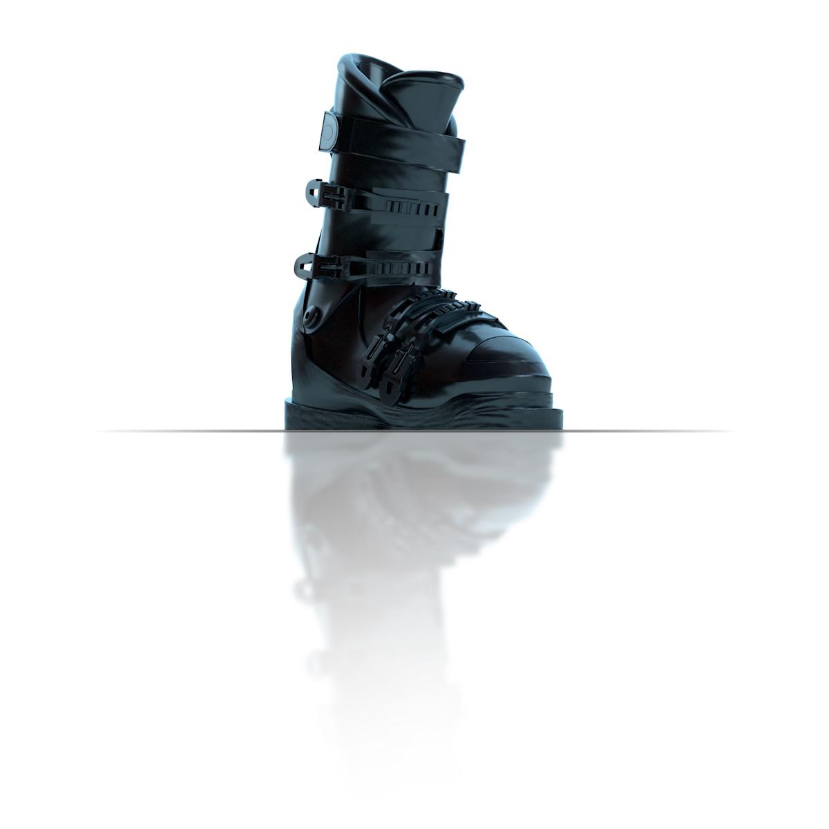 Ski boot, dark blue