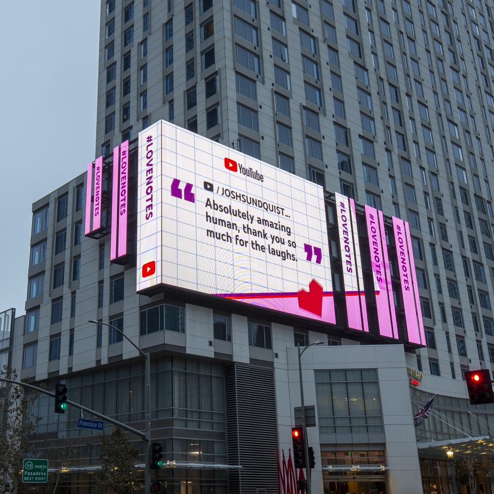 Whhhhaaa! Check out my #LoveNotes billboard in Downtown Los Angeles.