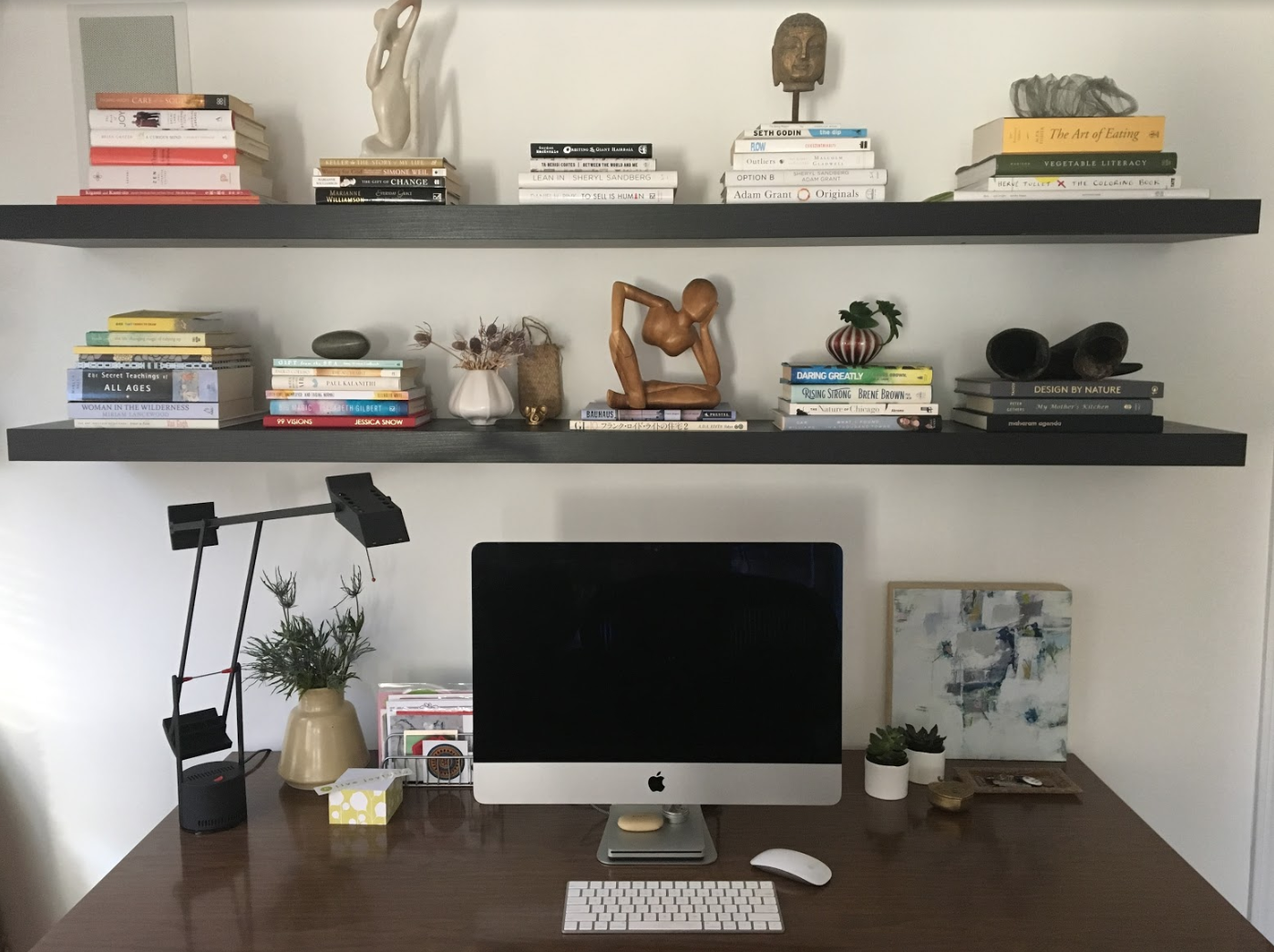 A private workspace that is just hers! Inspired books fuel the soul and calms the mind.