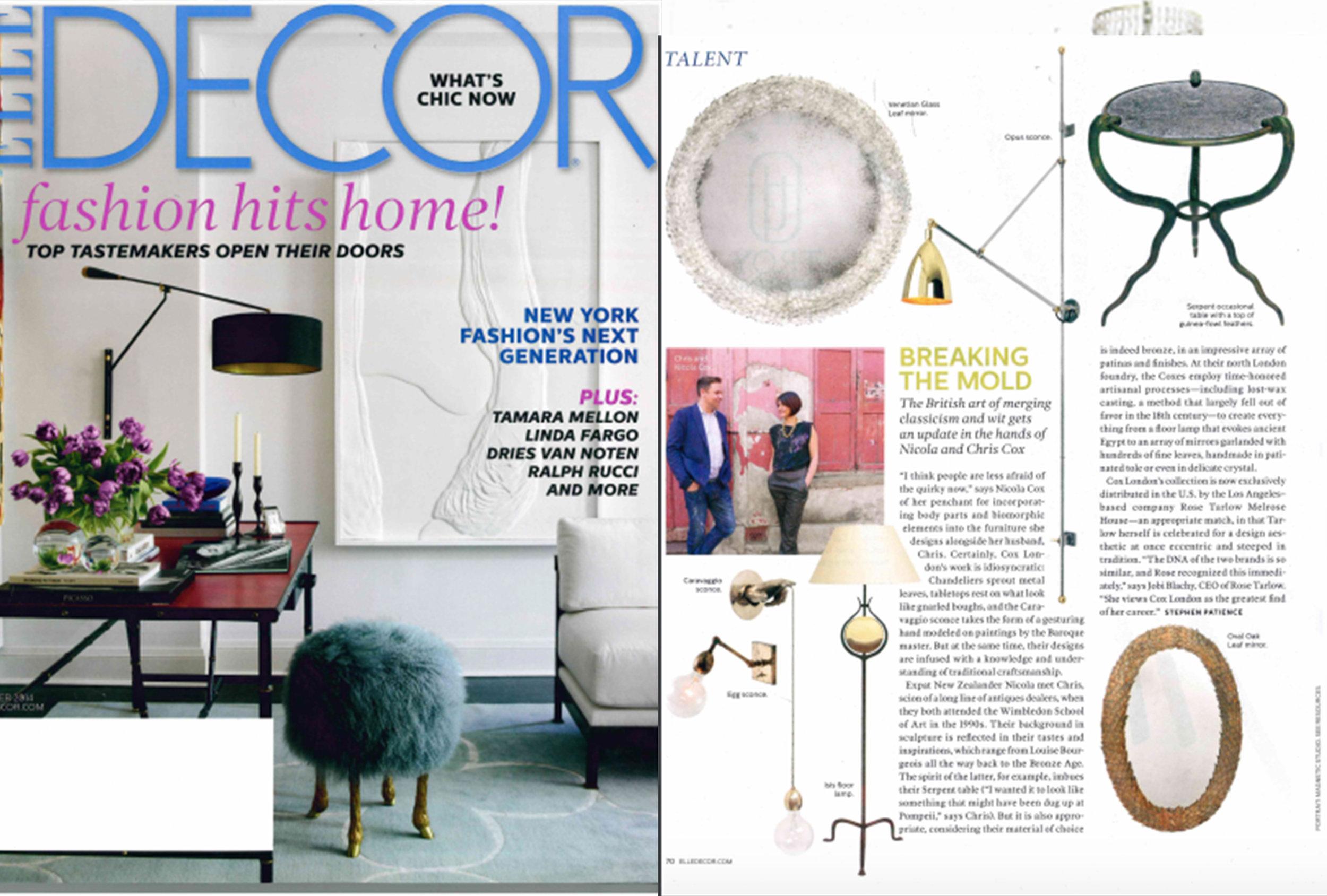 Elle Decor | October 2014