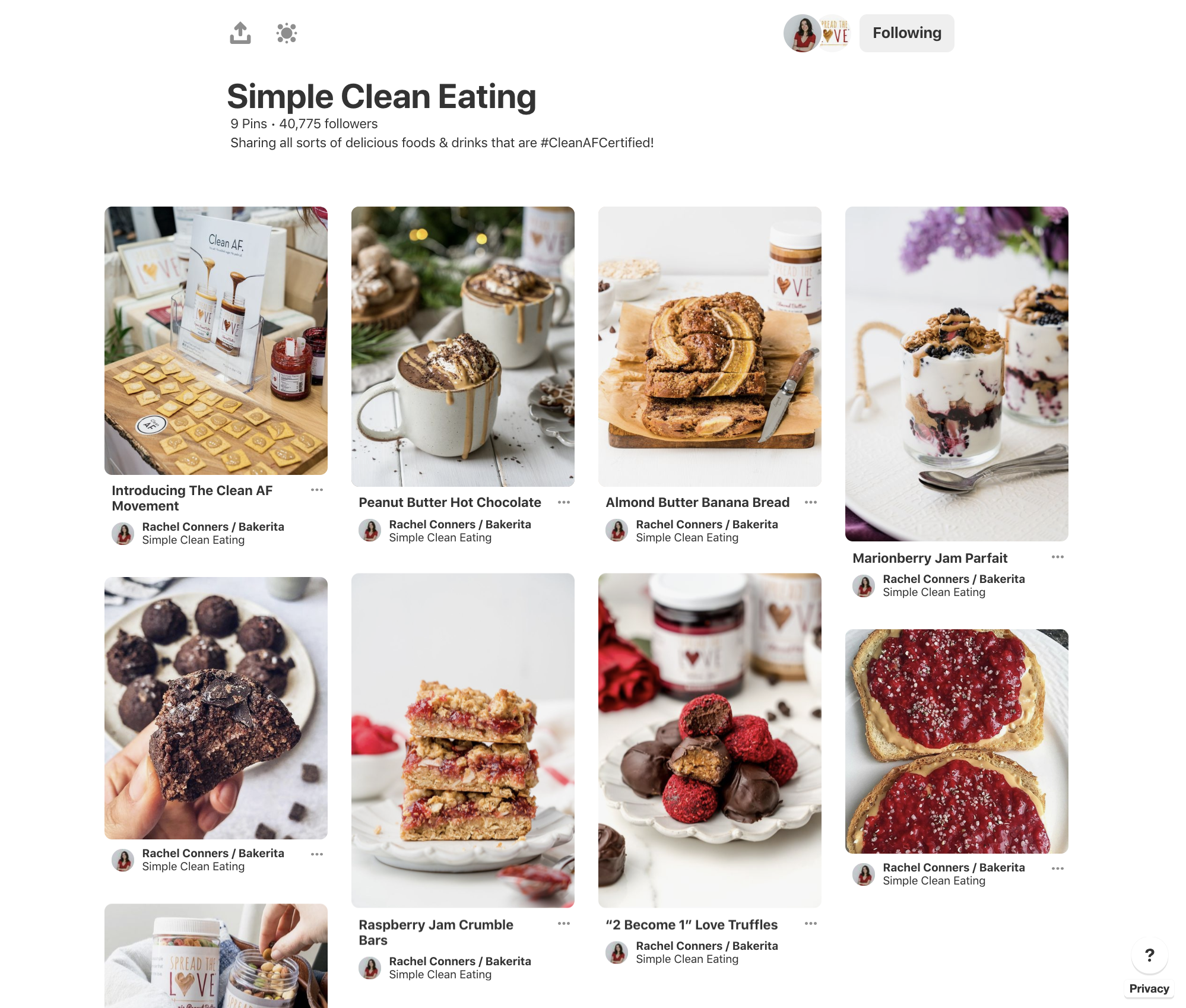 #CleanAFCertified Joint Pinterest Board with Influencer Rachel Conners of Bakerita -