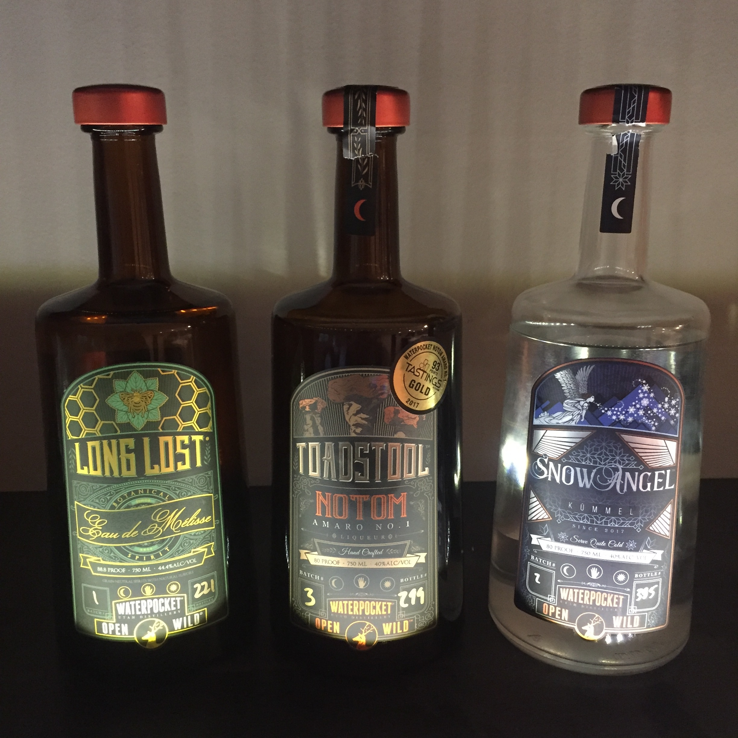 Several Waterpocket spirits have found a home in the Utah Grape and Grain collection...