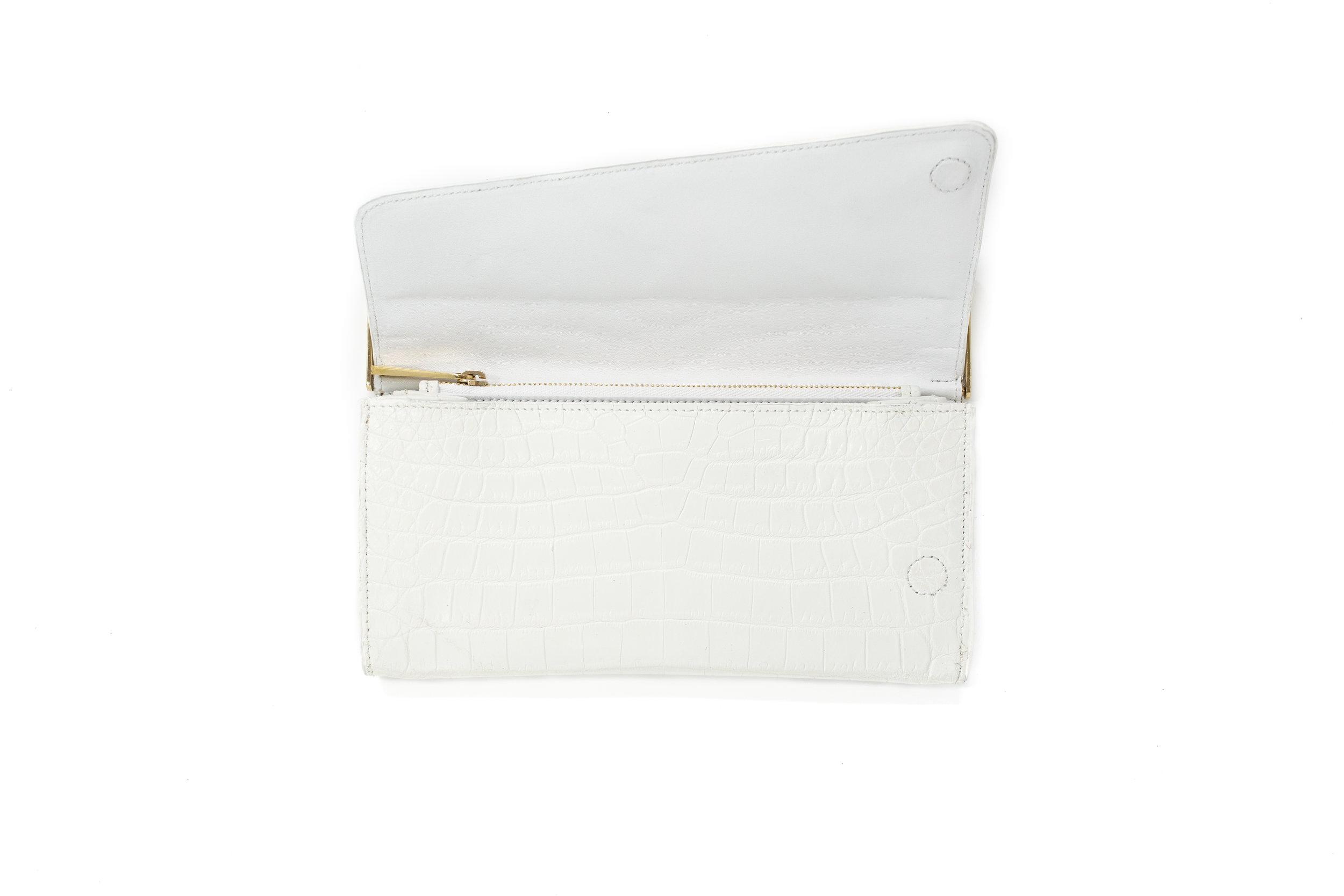 Luxury White Crocodile Women's Wallet