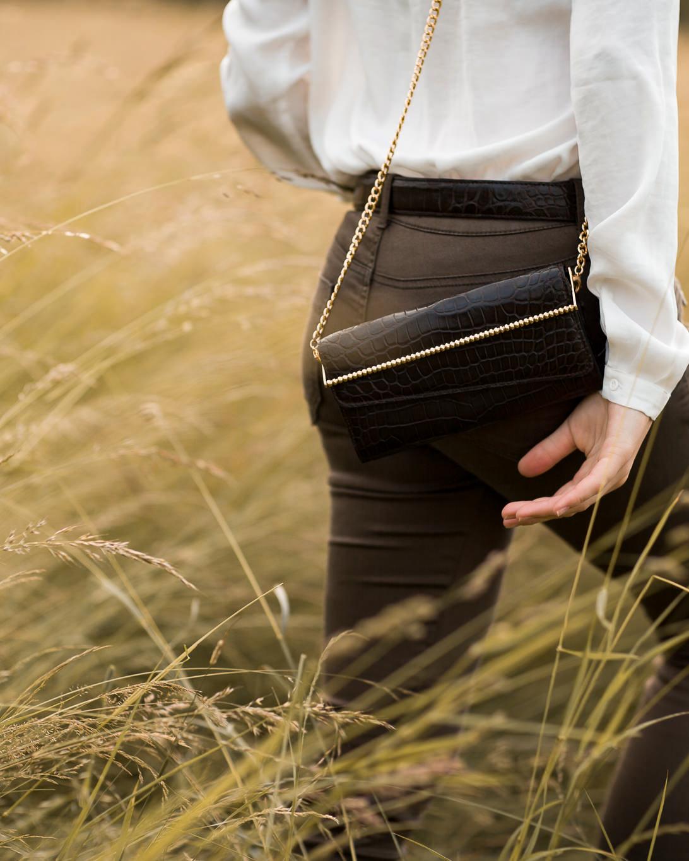 Calie Parese Luxury Crocodile Womens Wallet Black
