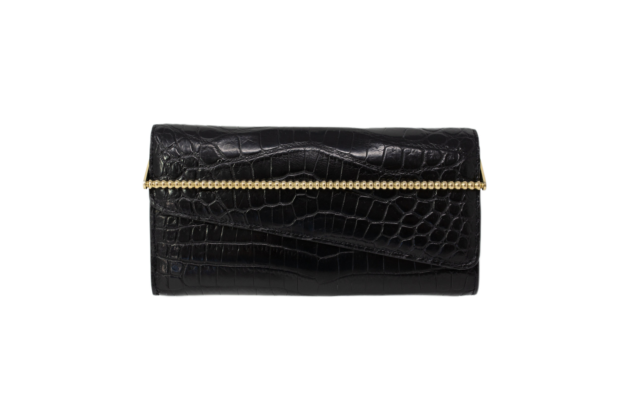 Calie Parese Luxury Crocodile Womens Wallet Black