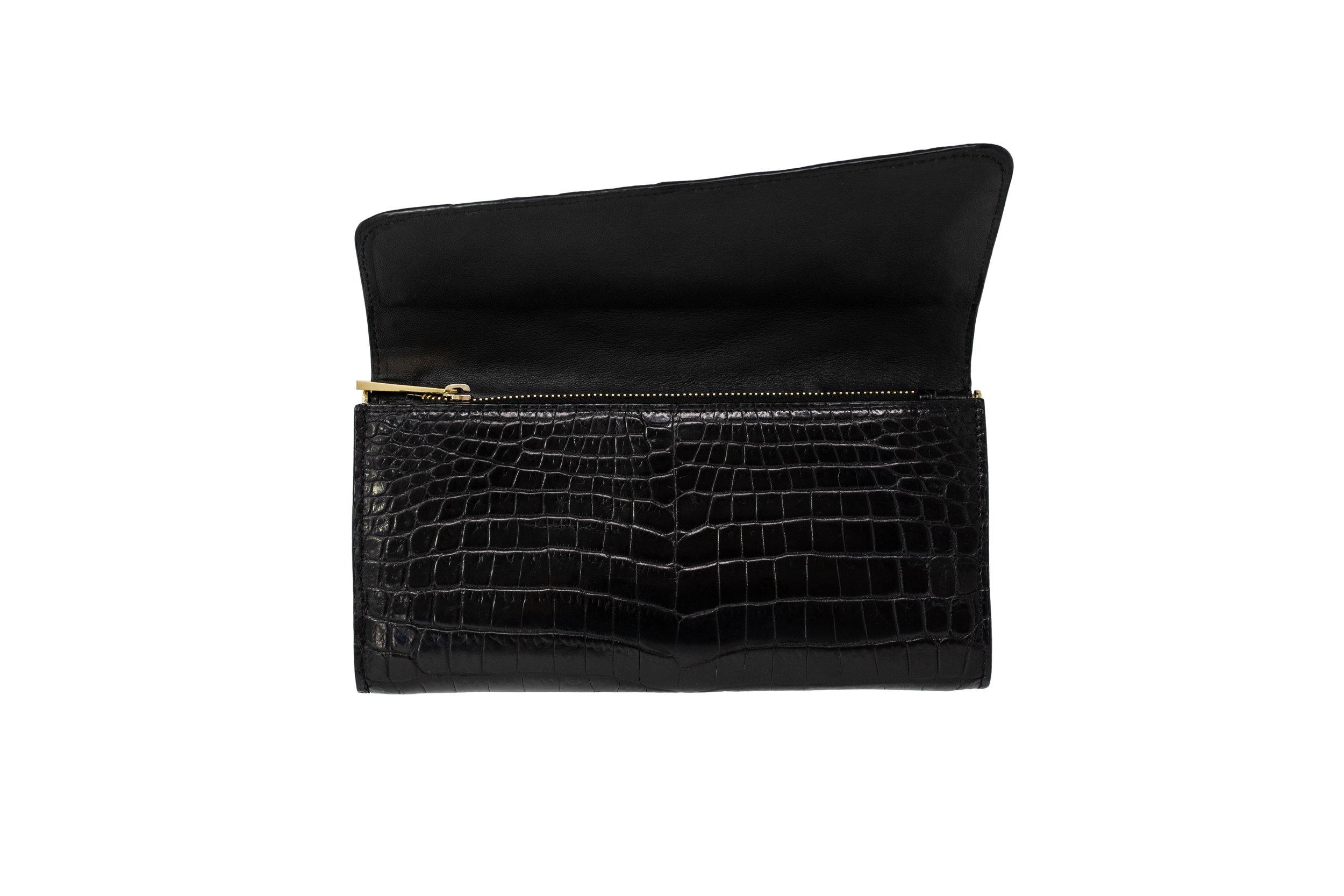 Luxury Black Crocodile Women's Wallet