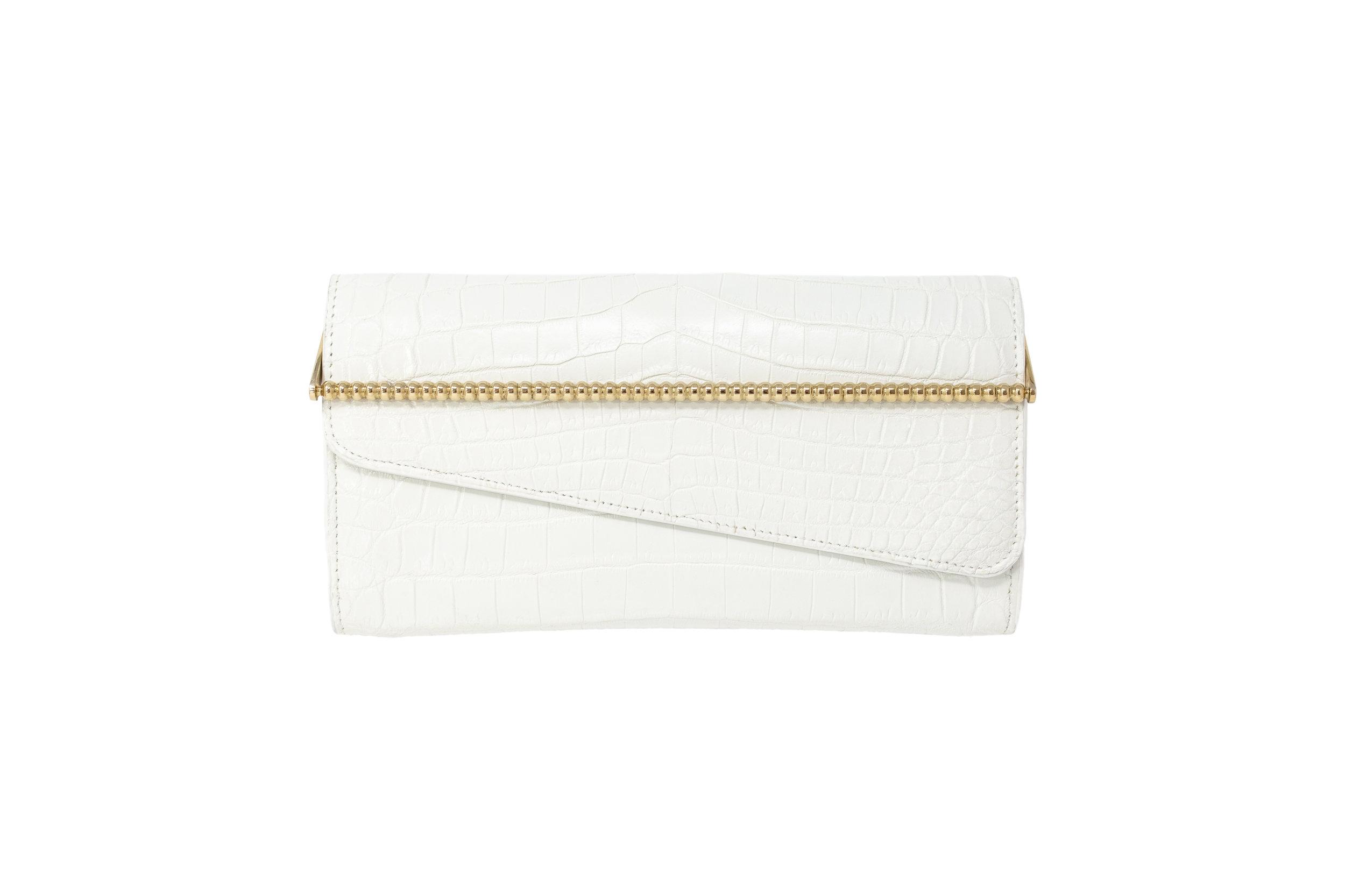Calie Parese Luxury Crocodile Womens Wallet White