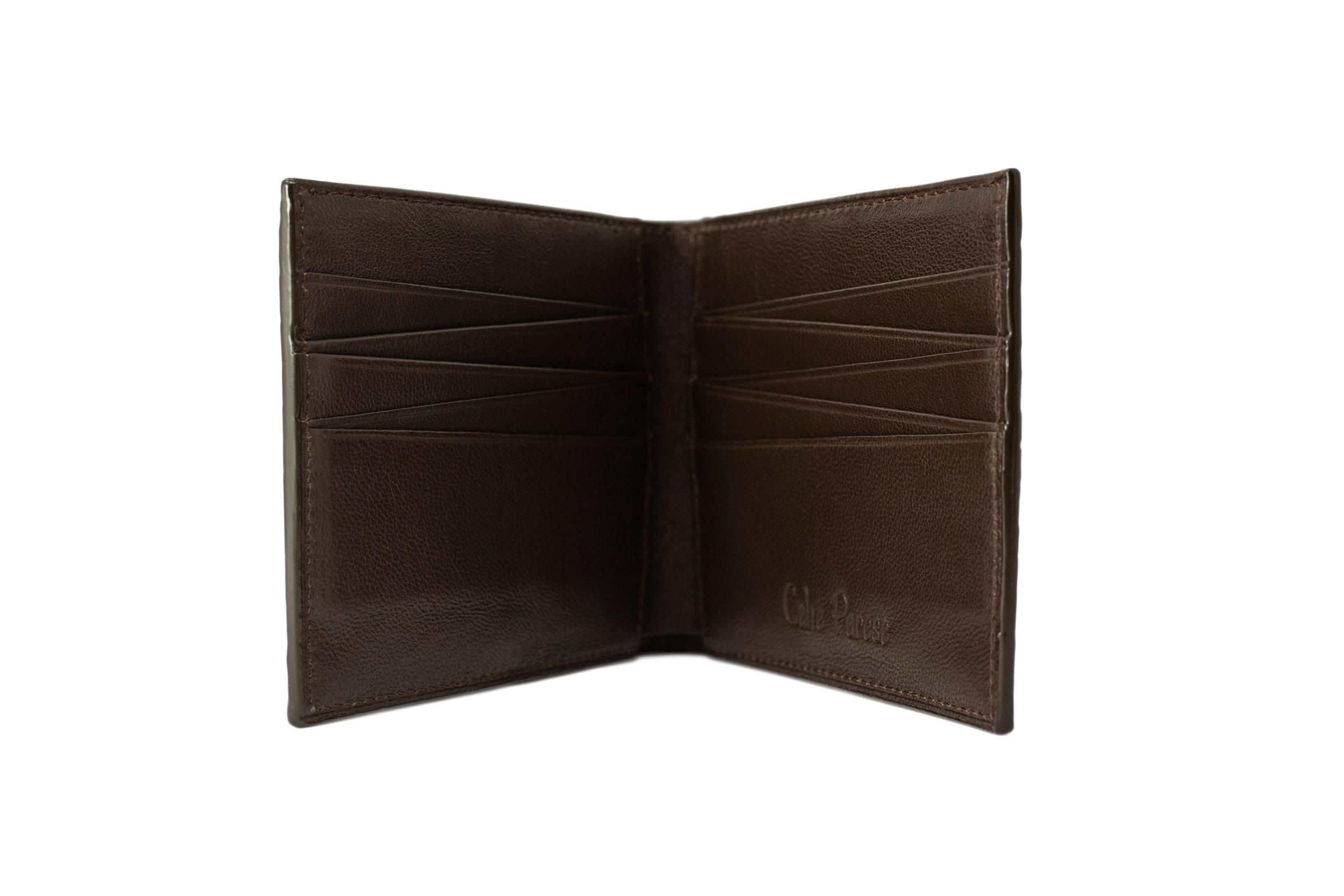 Luxury Brown Crocodile Bi-fold Men's Wallet