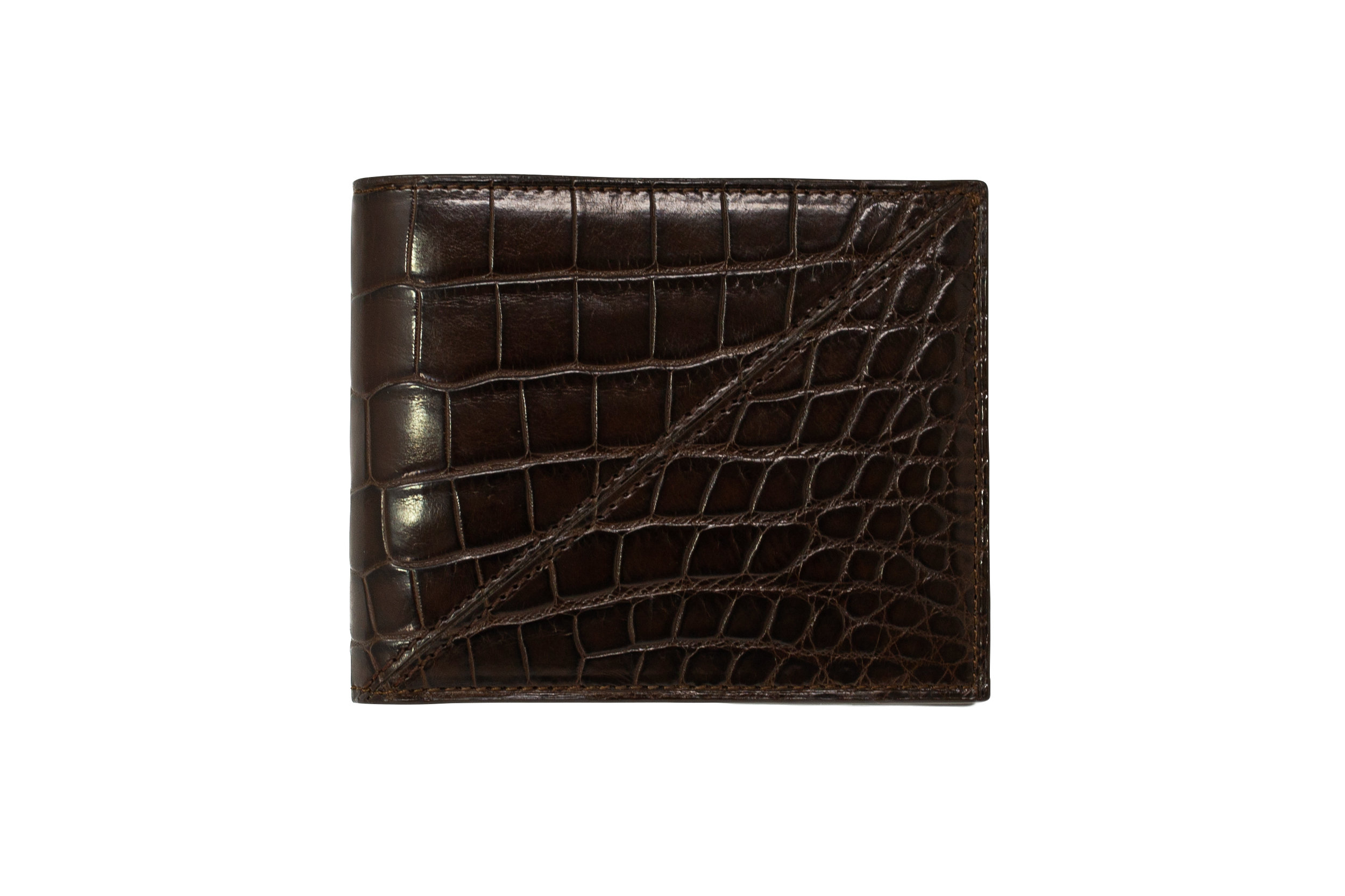 Calie Parese Luxury Nile Crocodile Leather Men's Wallet in Brown
