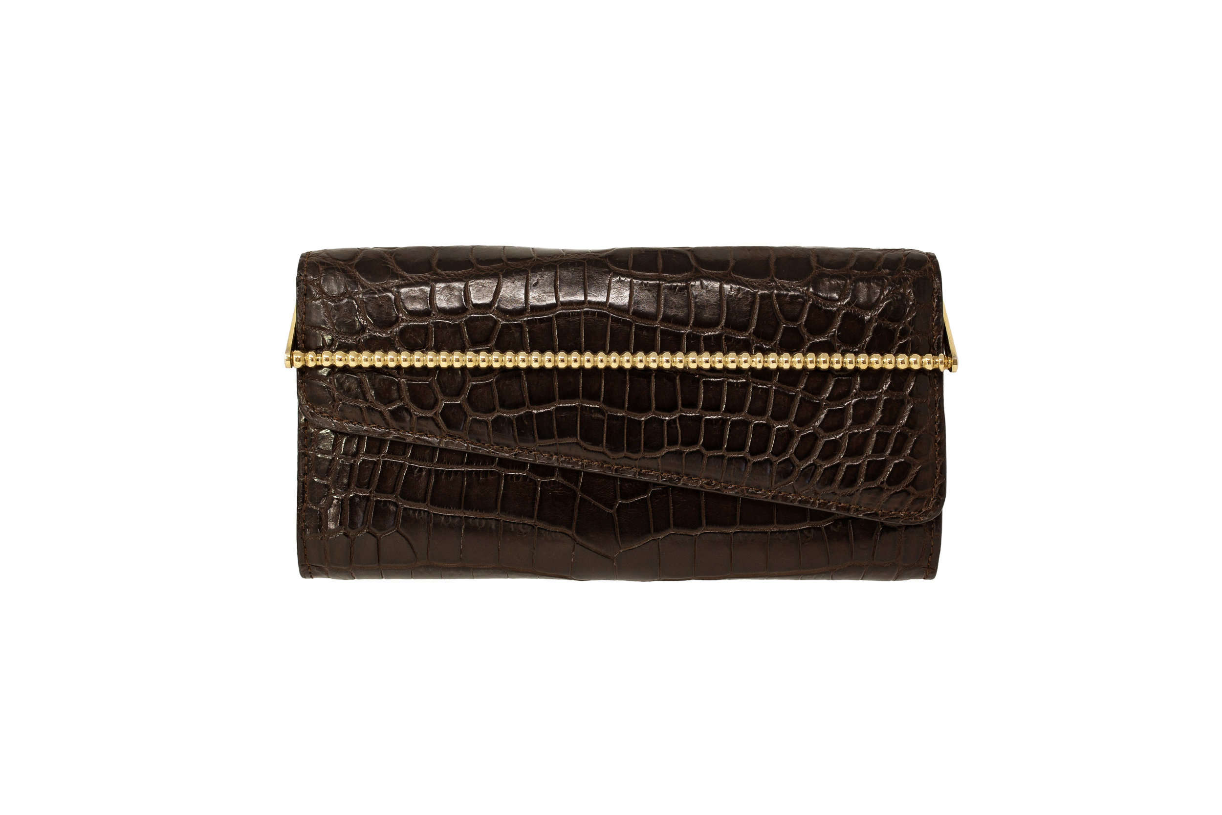 Luxury Brown Crocodile Women's Wallet